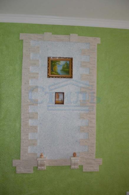 интерьер с жидкими обоями фото