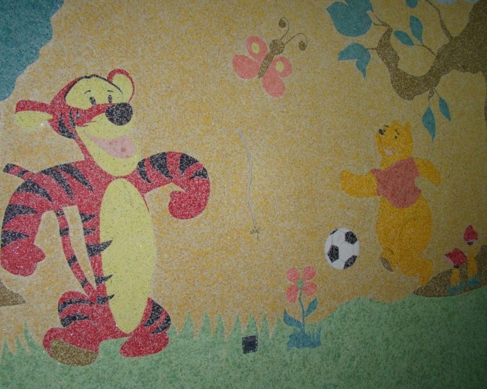 Рисунки жидкими обоями в детской Одесса