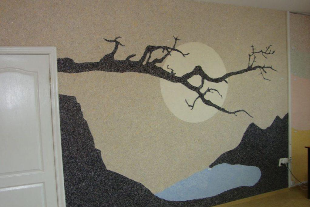 Как декорируют стены жидкими обоями в Виннице
