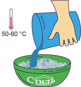 Добавить воды в жидкие обои