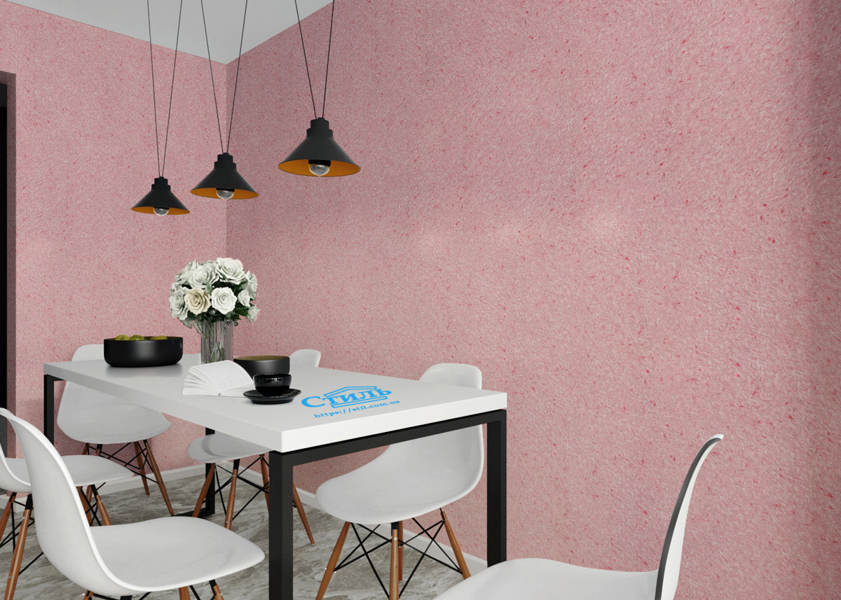 рожеві рідкі шпалери